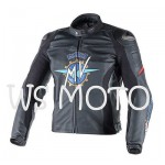 2016 MV AGUSTA BLACK LEATHER MOTORCYCLE MOTOGP LEATHER JACKET 100% COWHIDE LEATHER