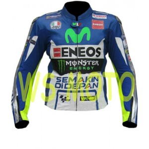 YAMAHA MOVISTAR  valentino rossi MOTORBIKE MOTOGP MOTORCYCLE RACING LEATHER JACKET