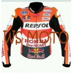 HONDA REPSOL RED BULL MOTORBIKE,MOTORCYCLE/MOTGP RACING LEATHER JACKET