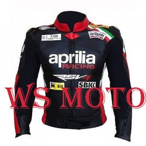 MAX BIAGGI APRILIA MOTORBIKE,MOTORCYCLE/MOTGP RACING JECKET 100% COWHIDE LEATHER