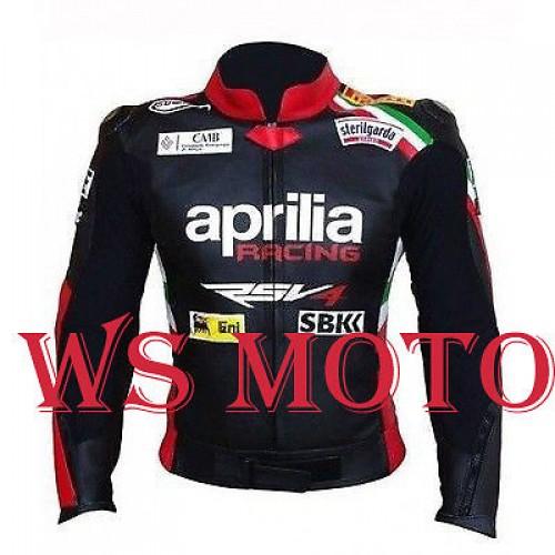 Max Biaggi Aprilia Motorcycle Motorbike Racing Leather Jacket