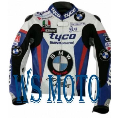 BMW Motorcycle Leather Jacket Sports Men Motorbike Leather Jacket Cowhide Jacket