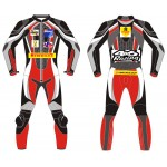Custom 1PC MOTORBIKE 100% COWHIDE LEATHER SUIT RACING BIKER SUIT CE ALL