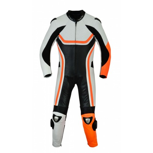 Custom made 1PC MOTORBIKE 100% COWHIDE LEATHER SUIT RACING BIKER SUIT CE ALL SIZES