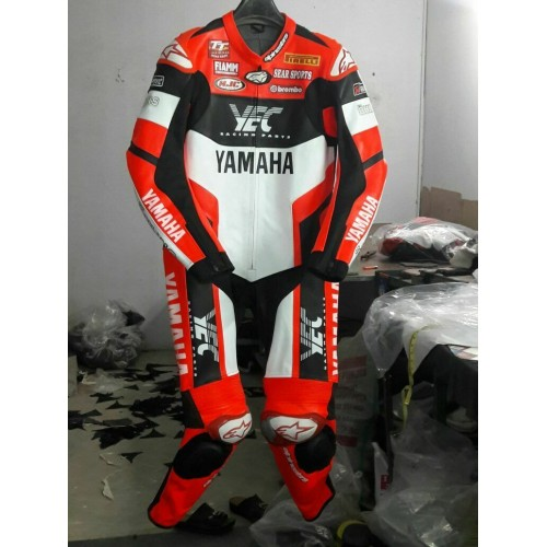 YAMAHA YEC MOTORBIKE 100% COWHIDE LEATHER SUIT RACING BIKER SUIT CE ALL