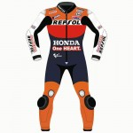 Marc Marquez Honda Repsol 2017 Motorbike Leather Suit Made With Cowhide Leather