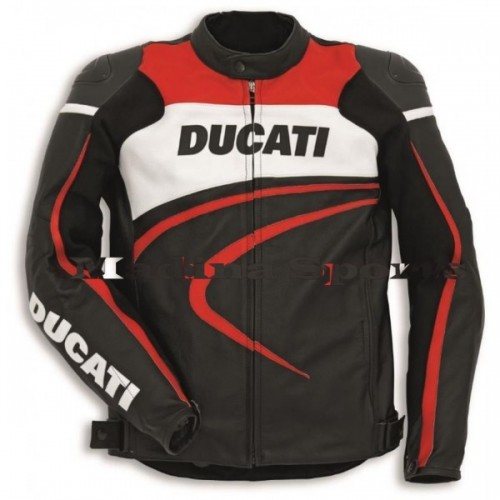 Ducati Corse 2012 Perforated Leather Jacket SZ 56