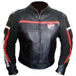 DUCATI CORSE 14 BLACK LEATHER JACKET