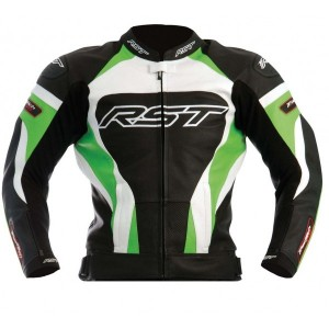 RST Tractech Evo Kawasaki GREEN Leather Motorbike Sports Jacket XS TO 6XL