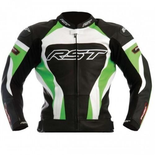 RST Tractech Evo Kawasaki GREEN Leather Motorbike Sports Jacket XS TO 6XL