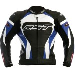 RST Tractech Evo Kawasaki Blue Leather Motorbike gear Sports Jacket