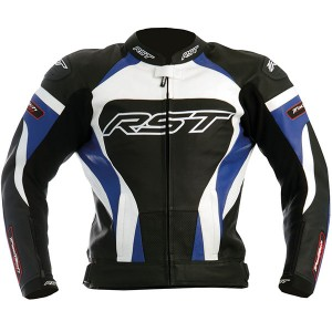 RST Tractech Evo Kawasaki Blue Leather Motorbike gear Sports Jacket