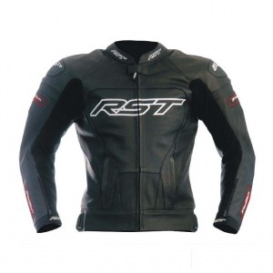 RST Tractech Evo Black leather motorbike jacket S To 6XL