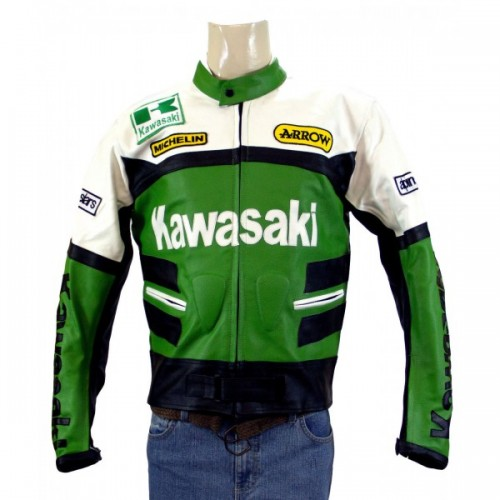 New Kawasaki Ninja Green Motorcycle Leather Jacket Padded S TO 6XL 2018 manufacturer