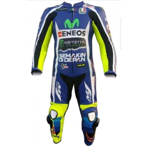 YAMAHA CUSTOM MADE MotoGp MOTORCYCLE RACING SUIT - CE APPROVED FULL PROTECTION