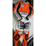 DUCATI FLEX MOTORBIKE RACING LEATHER SUIT CE APPROVED