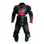 HONDA WINGS MOTORBIKE RACING LEATHER SUIT CE APPROVED