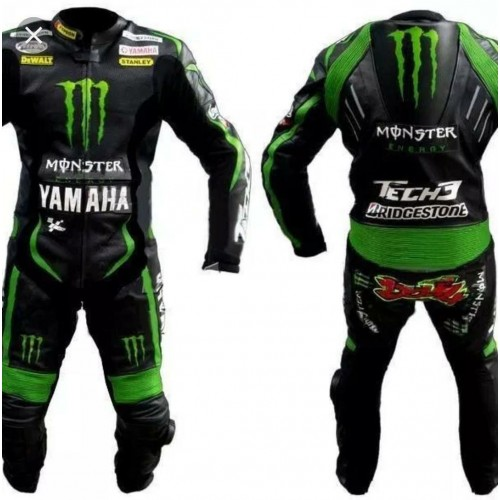 YAMAHA MONSTER MOTORBIKE RACING LEATHER SUIT CE APPROVED