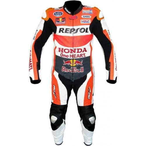 RED-BULL MOTORCYCLE REPSOL LEATHER TRACK RACING SUIT-CE APPROVED PROTECTOR-ALL SIZES