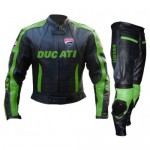 RTX Motorcycle Ducati Cowhide CE Armour leather suit Motorbike Racing Protection