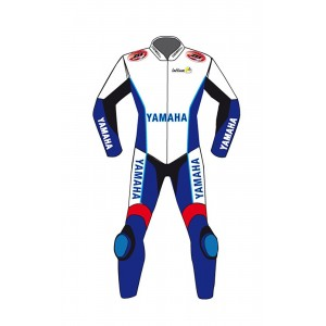 Yamaha MotorBike Leathers Suit Motorcycle Cowhide Racing Leather Suit CE Armour