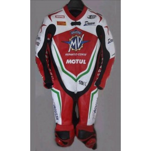 2019 MV Agusta Motorcycle Custom Leather Riding Suit-Motorbike Racing suit MotoGP