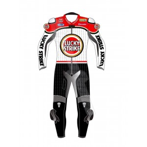 LUCKY STRIKE MOTOGP MOTORCYCLE MOTORBIKE LEATHER SUIT CE APPROVED 2019 MODEL