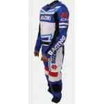 Suzuki MotoGp MotorBike Racing Leather Suit Sports Motorcycle Cowhide Leather Suit