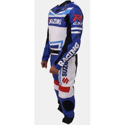 Suzuki MotoGp MotorBike Racing Leather Suit Sports Motorcycle Cowhide Leather Suit