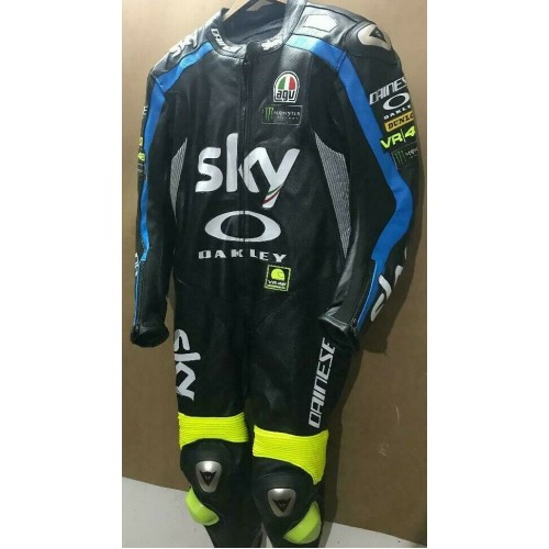 SKY OAKLEY MOTORBIKE RACING LEATHER SUIT CE APPROVED