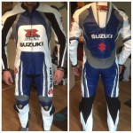 Suzuki GSXR Motorcycle/Motorbike Leather Suit in Cowhide Leather Motogp