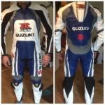 Suzuki GSXR Motorcycle/Motorbike Leather Suit in Cowhide Leather Motogp