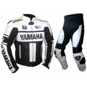 YAMAHA-Motorcycle Racing Leather 2PC Suit--CE Approved Protectors All Sizes
