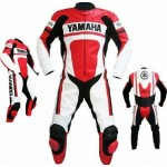YAMAHA MOTORCYCLE CUSTOM MADE LEATHER RACING SUIT CE APPROVED