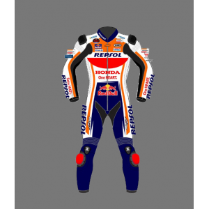2021 Custom Motorbike suits ALEX MARQUEZ Red Bull HONDA REPSOL RACE Leather Motorbike Suit