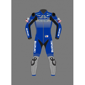 2021 Custom Motorbike suits ALEX RINS SUZUKI RACE SUIT Leather Motorbike Suit