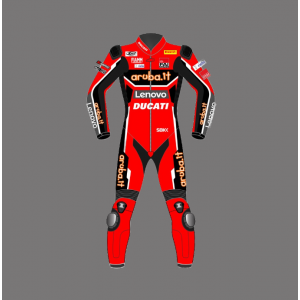 2021 Custom Motorbike suits CHAZ DAVIES DUCATI RIDING SUIT WSBK Lather Racing suit