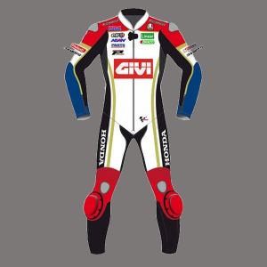 Carl CRUTCHLOW MotoGP GIVI  CR Honda Motorcycle Race Leathers Suit