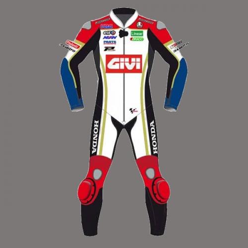 Carl CRUTCHLOW MotoGP GIVI  CR Honda Motorcycle Race Leathers Suit