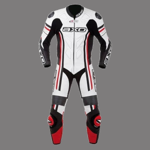 AXO Mens Cowhide-Motorcycle-Leather-Suit