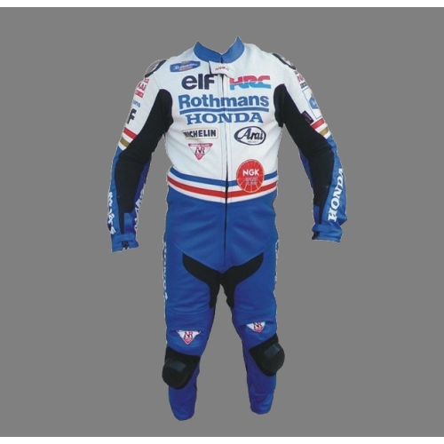 Rothmans Honda Motorcycle Racing Leather Suit