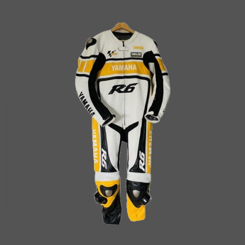 Yamaha R6  Yellow Style 2021 Leather Motogp Racing Suit