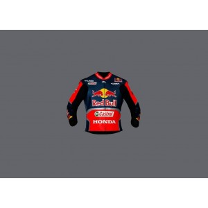 Honda Racing Jacket  Repsol Red Bull Motorcycle Cowhide Leather Street Racing Motorbike Jacket