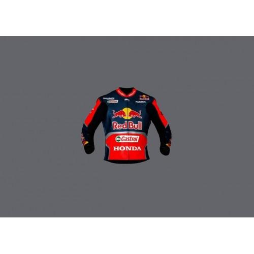 Honda Racing Jacket  Repsol Red Bull Motorcycle Cowhide Leather Street Racing Motorbike Jacket