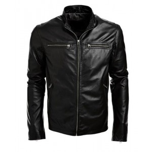 2019 men fashion bomber leather jacket