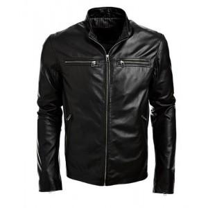 2019 men fashion bomber leather jacket