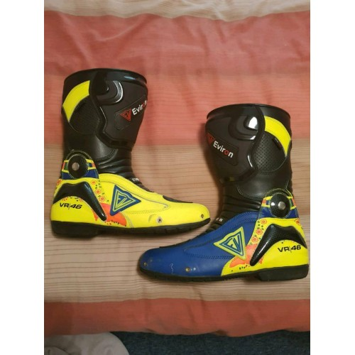 Valentino rossi vr46 Motorcycle Motorbike Sports Leather Boots - motogp racing boots/shoes