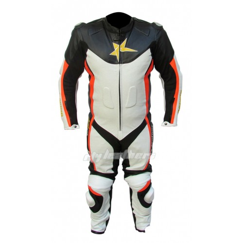 MOTORCYCLE LEATHER RACING SUIT CE APPROVED PROTECTION ALL sizes MOTORBIKE SUIT