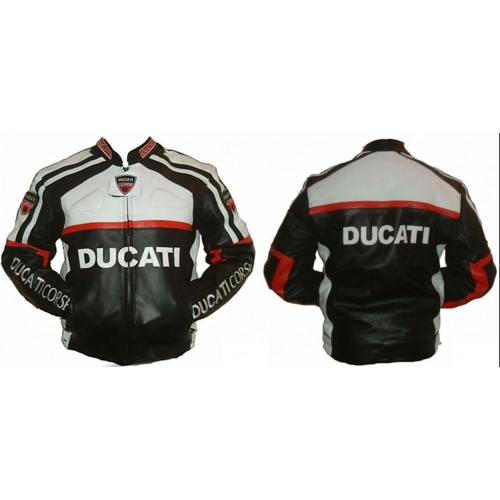 Men's Motorbike  Ducati Leather jacket for motorcycle race ride