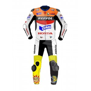 HONDA RESPOL Motorbike Motorcycle Racing Premium Leather Cowhide Armoured Suit